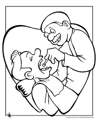Vector illustration on a dental theme.coloring book pages for children. Dental Coloring Page Coloring Home