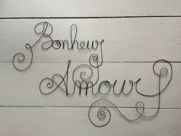 Mot Message Phrase Citation écriture Bonheur Amour Sculpture En Fil De Fer Recuit Décoration Murale Lettre Plaque De Porte Idée Cadeau