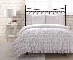off white bedding sets double target ruffle