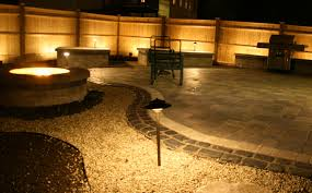 planter lighting. Paver Patio With A Firepit And Stone Planters At Night Low Voltage Landscape Lights In Planter Lighting
