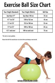 Yoga Ball Size Chart What Size Exercise Ball Do I Need