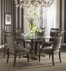 the belvedere dining room set with ground glass table