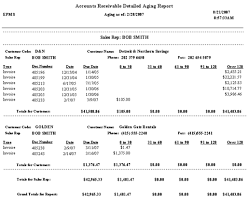 Aged Accounts Receivable 9 1 Aged Trial Balance Report