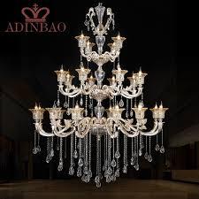 promotion high quality k crystal font b chandelier b font luxury lobby crystal font b chandeliers