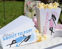Decorative Popcorn Boxes Personalized About to Pop Popcorn Boxes 60 Pk Baby Boy Favor 11
