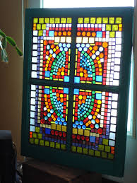 stained glass mosaic barn window