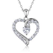 "Amazon.com: <b>925 Sterling Silver heart</b> necklace - Billie Bijoux ""You ..."