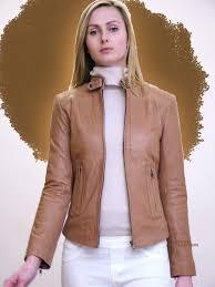 higgs leathers betty las beige leather bikers jackets