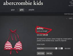 Abercrombie Kids Size Chart Age Why Is Abercrombie Selling Push Up Bikinis To 7 Year Old