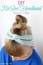 diy no sew headband from a t shirt tutorial
