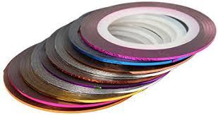 Haobase <b>30Pcs</b> Mixed Colors Rolls Striping Tape Line <b>Nail Art</b> Tips ...