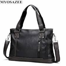 <b>Brand Male</b> Bag PU Leather Briefcase <b>Men</b> Business Handbag ...