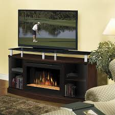 windham flatpanel tv stand and electric fireplace in mocha
