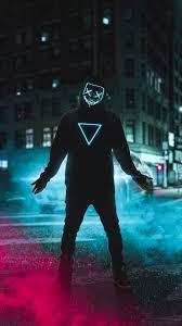 Neon Mask Boy 4k Mobile Wallpaper ...