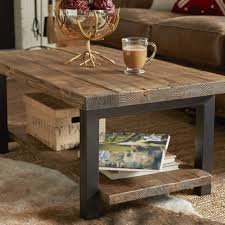 ... Coffee Table, Extraordinary Dark Brown Rectangle Antique Steel And Wood  Wood Metal Coffee Table In ...