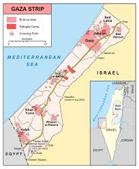 maps of gaza strip  detailed map of gaza strip in english  road