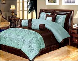 brown turquoise comforter sets turquoise and brown bedding 07 teal sets