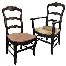 french dining chairs with rush seats