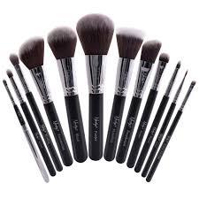 masterful collection makeup brush set black