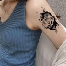 Vankirs временная татуировка женская наклейка боди арт подстилка цветок роза