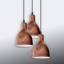 Pendant Light Priddy 1 Three Bulb Antique Copper