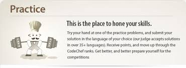 hard codechef try your hand at one of the practice problems and submit your solution in the