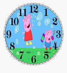 Ai (adobe illustrator) eps (encapsulated postscript). Peppa Pig Clock Clock Face Svg Free Free Transparent Clipart Clipartkey