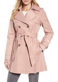 halogen detachable hood trench coat regular petite