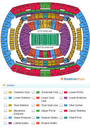 Ny Jets Stadium Seating Chart Metlife Stadium Seating Chart Pdf