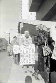 whitney black white. Michele Wallace (center) And Faith Ringgold (right), Black Emergency Cultural Coalition (BECC) Protest At The Whitney Museum, New York, January 31, White