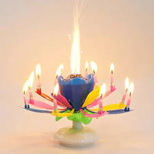 TPFOCUS <b>Double</b> Layers <b>Lotus Musical</b> Happy <b>Birthday</b> Candles ...