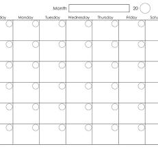 Printable Blank Monthly Calendar Printable Blank Monthly Calendar Calendar Template Printable With