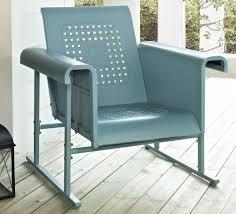 blue outdoor glider chair