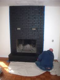 paint red brick fireplace black ideas painted white
