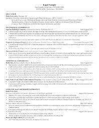 Sample Resume Of A Mechanical Engineer Mechanical Engineering Resume