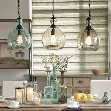 Blown Glass Pendant Lighting For Kitchen Off To College Casamotion Wavy Vintage Industrial Hand Blown