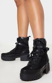 karmel black biker boots image 1