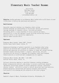 Sample Elementaryr Resume For Study Examples Cooking Instructor