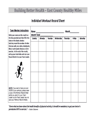 26 Printable Workout Sheet Forms And Templates Fillable