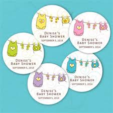 Pastel Clothesline Personalized Round Labels  Baby Shower Baby Shower Tags And Labels