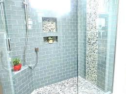 glass shower floor sea tile bathroom best remodel ideas makeovers subway mosaic showe