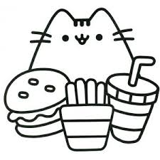 Pusheen Cat Coloring Page