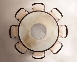 dining table top view png. joaquim tenreiro, dining set, designed in rosewood and painted glass. table top view png