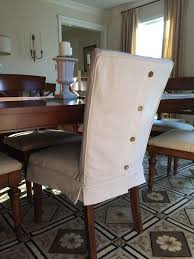 Dining Chair Cover Dropcloth Slipcovers For Leather Parsons Chairs Slipcovers