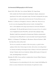 Annotated Bibliography Sample Word Template