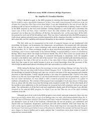 self reflection essay conclusion example docoments ojazlink writing reflective essay examples haadyaooverbayresort com