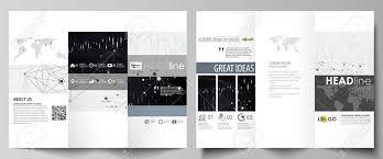 Tri Fold Brochure Business Templates Easy Editable Vector Layout