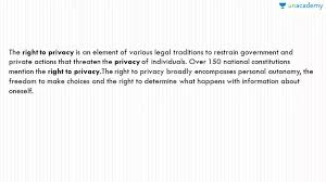 right to privacy hindi sample essays for ssc cgl tier  right to privacy hindi sample essays for ssc cgl tier 3 unacademy