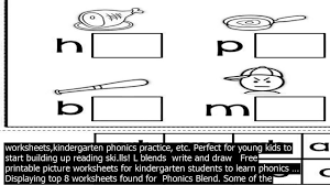 Check out our collection of printable phonics worksheets for kids. Kindergarten Phonics Blend Worksheets Free Kindergarten And Early Childhood Phonics Worksh Youtube