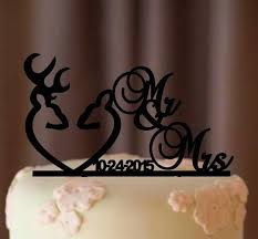 deer wedding cake topper country wedding cake topper rustic cake topper shabby chic redneck cowboy outdoor western acrylic